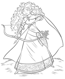 Free Disneys Brave Coloring Pages