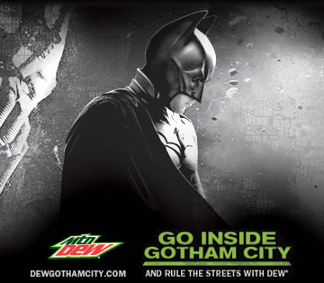 Free Dark Knight Rises Ticket with Mountain Dew Purchase