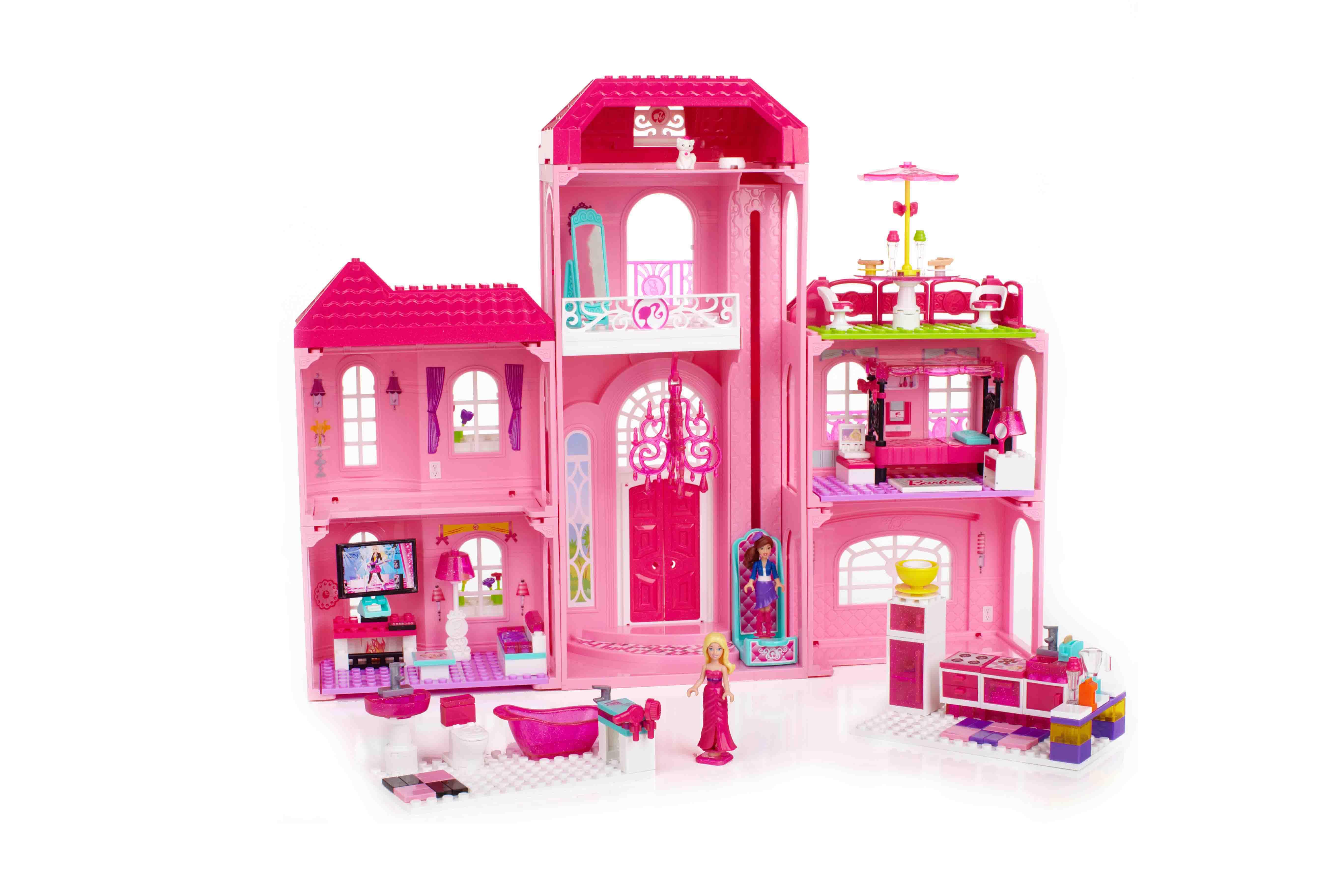 Mega Bloks® Barbie® Build 'n Style Luxury Mansion Review and #Giveaway #MegaBloksBarbie ...
