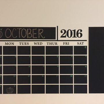 Decor Design Decals: Get Organized With a Chalkboard Wall Calendar!