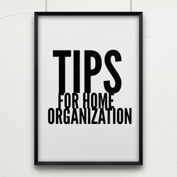 Tips For Home Organization #OnAMegaRoll