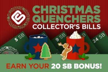 Swagbucks Christmas Quenchers Collectors Bills