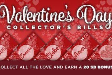 Swagbucks Valentine Collector's Bills
