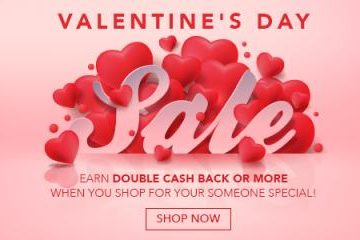 Valentine's Day Double Cash Back from Swagbucks!