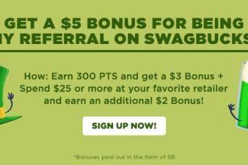 Swagbucks: Get Your March Referral Bonus!