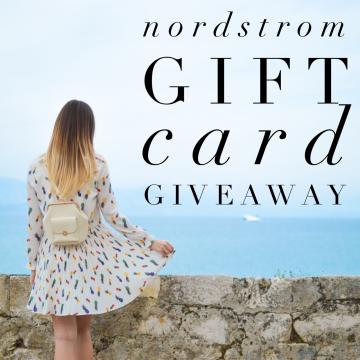 $200 Nordstrom Gift Card Giveaway (Ends 5/8)