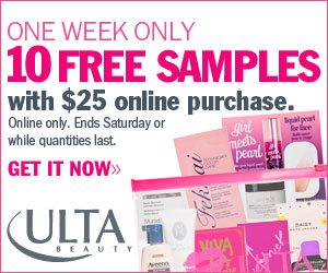 Ulta: get ready… 18 free samples & the perfect clutch! | milled.