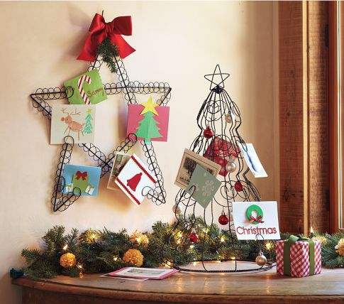 pottery barn kids star holiday card holder review - Christmas Card Tree Holder