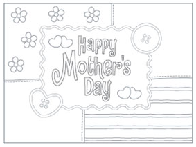 graphic regarding Printable Mothers Day Cards to Colour in known as Further Printable Moms Working day Playing cards For Coloring - Mommies