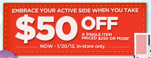 photo relating to Sports Authoirty Printable Coupon named Athletics Authority: $50 Off $250+ Coupon - Mommies with Cents