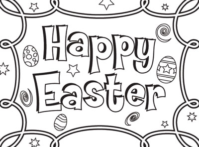 Easter Happy Coloring Lg