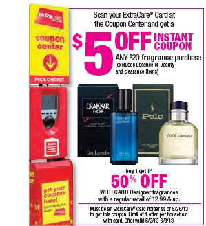 CVS: $5 off $20 Fragrance Purchase