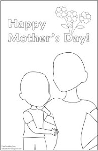 free printable mother's day cards for coloring  mommies with cents