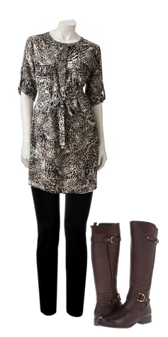 Jennifer Lopez Shirt Dress from Kohl's — The Perfect Dress for Fall!