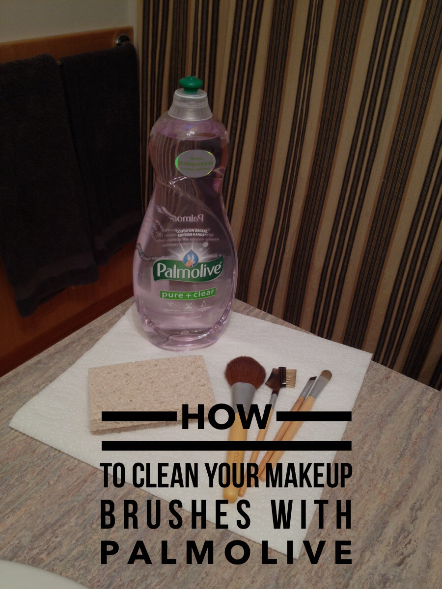 Palmolive: 25 Ways to Use it — #6: Clean Your Makeup Brushes #PalmoliveWM #ad {$50 Walmart Gift Card Giveaway}