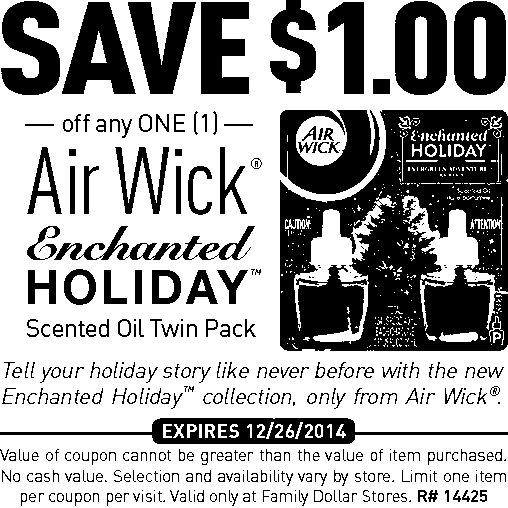 Family Dollar: Save on Airwick Scented Oil