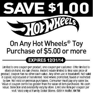 Family Dollar: Save on Mattel Hot Wheels Toys! - Mommies