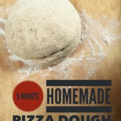 Motivation Monday: 5 Minute Homemade Pizza Dough Crust — It's Freezable!