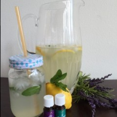 Refreshing Homemade Lemonade with a Twist: Flavor with Essential Oils!