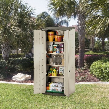 Rubbermaid Plastic Vertical Outdoor Storage Shed 52% Off Today Only