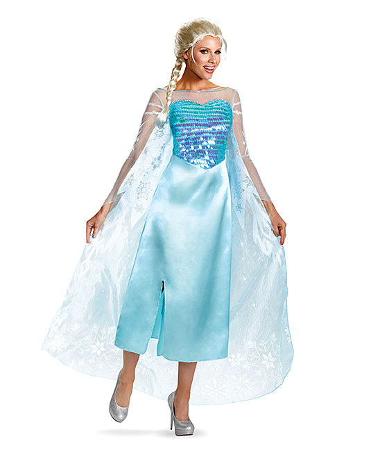 Elsa Deluxe Dress-Up Outfit - Women