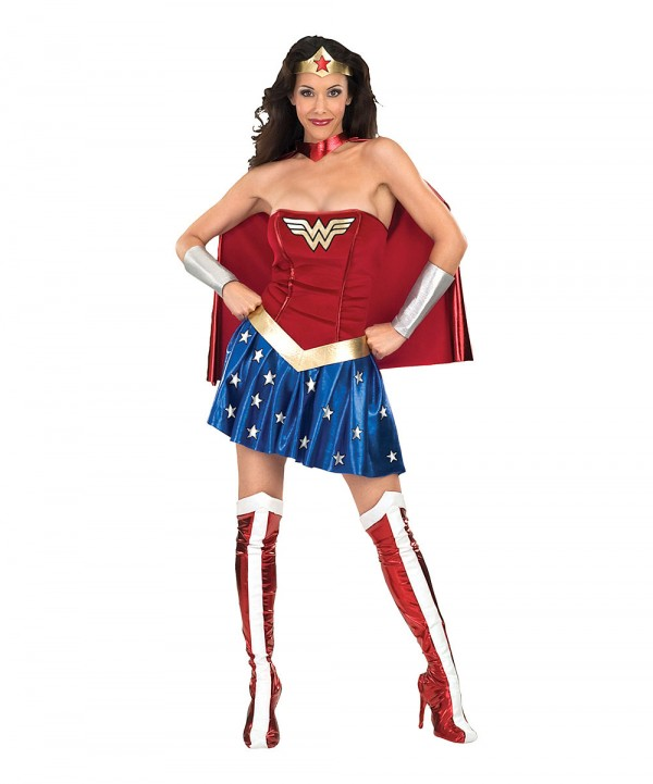 Wonder Woman Skirt Costume Set - Women