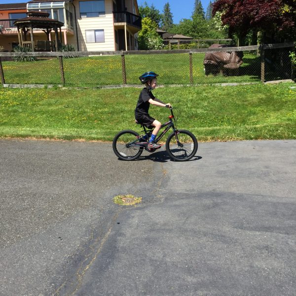 bb2a0d039d0 The Schwinn SmartStart bike really has given Jackson more confidence in his  riding ability and he's cruising along a lot better this year!