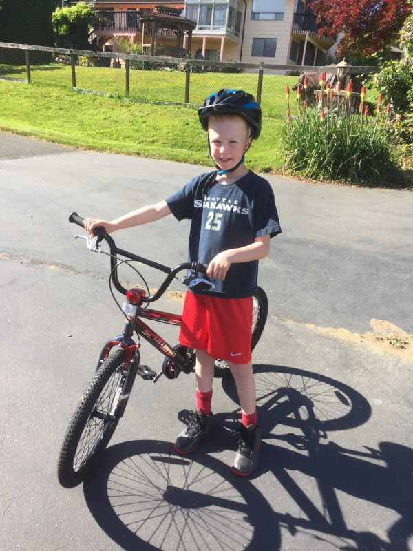 221375a833b Jackson is excited to take his new bike camping and has requested that  mommy and daddy get bikes so we can all ride together as a family. We like  that idea!