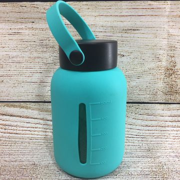 MIU Color Wide Mouth Glass Water Bottle with Scale Table Review & #Giveaway (AD)