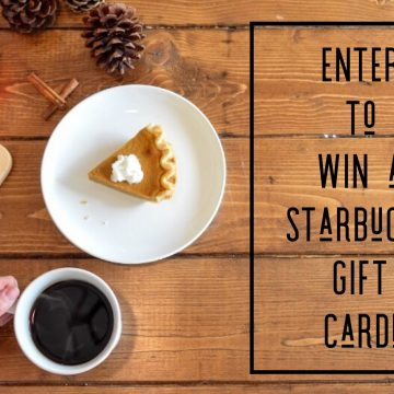 $100 Starbucks Gift Card #Giveaway (Ends 12/19)